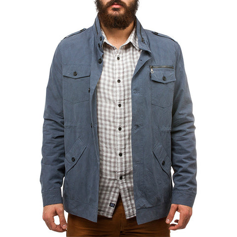 Benino Army Safari Jacket in Army Steel Blue