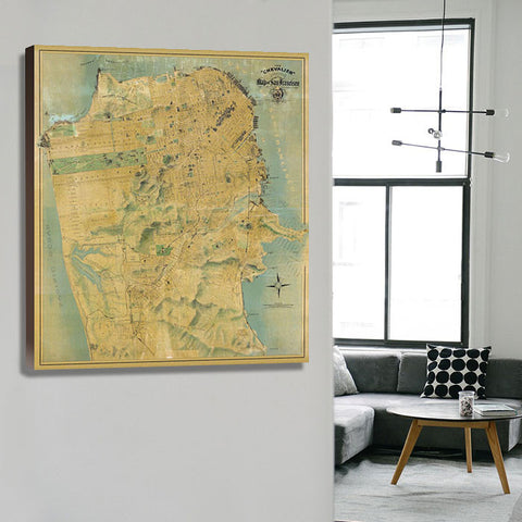 "The ""Chevalier"" Map Of San Francisco"
