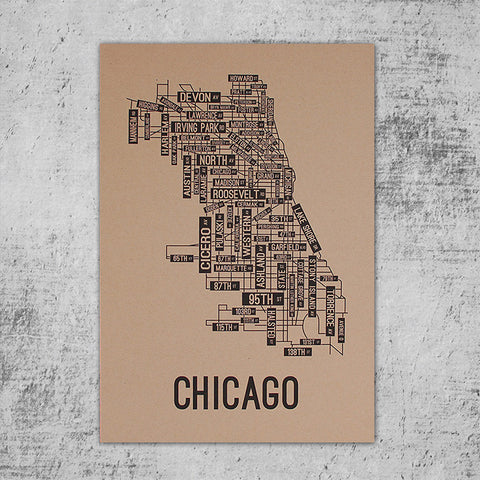 Chicago Street Map Poster