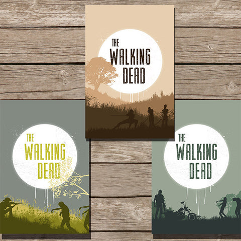 The Walking Dead Minimalist Print, Set of 3