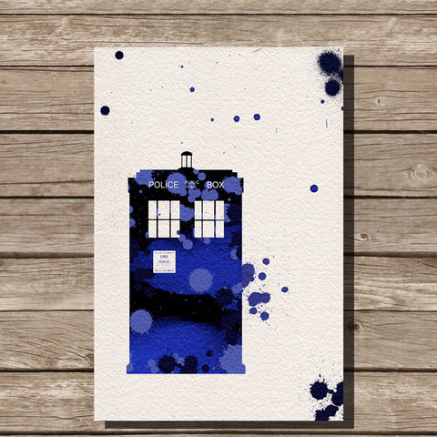 Dr Who Watercolor Print