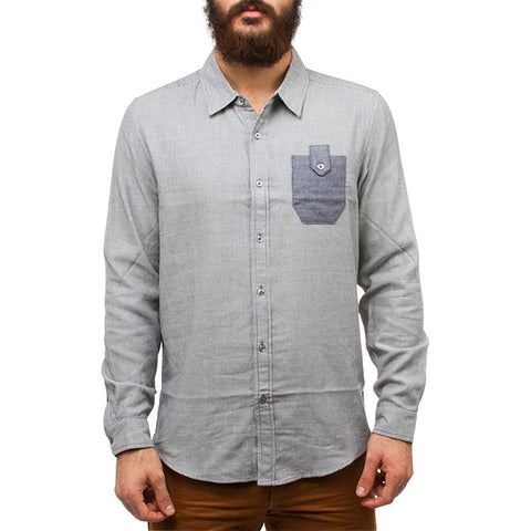 Dominic Lightweight Shirt in Umpire Blue Stripe