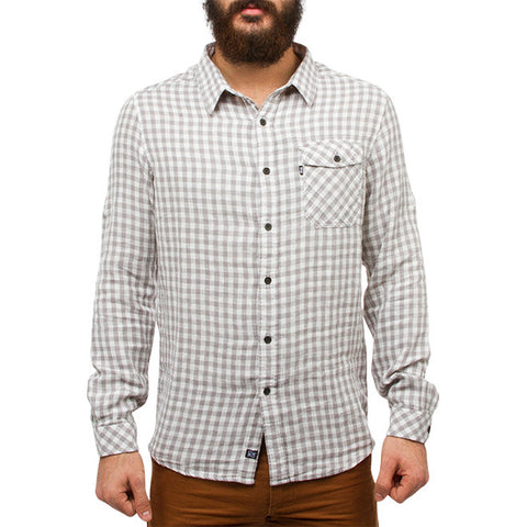 Gerad Lightweight Shirt in Checkers Chalk White