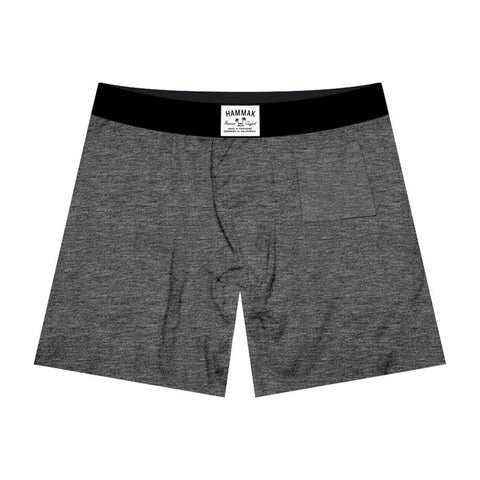 Basic Grey Premium Fit Boxer Brief With Stash Pocket
