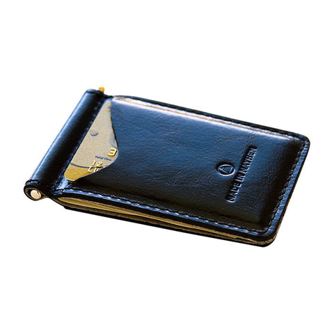 Madison Money Clip Wallet in Nero
