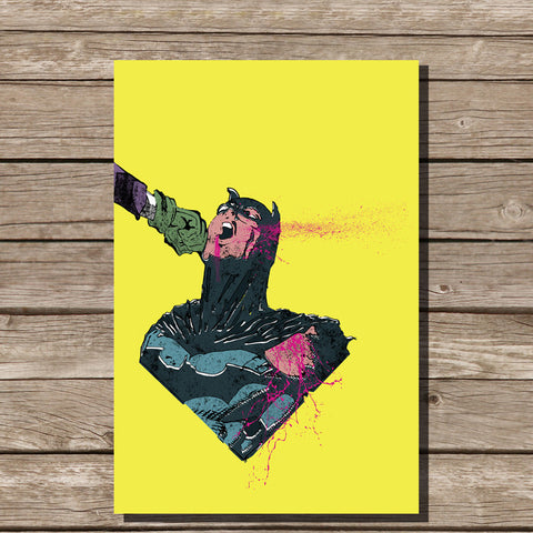 Batman Punch Print, Yellow