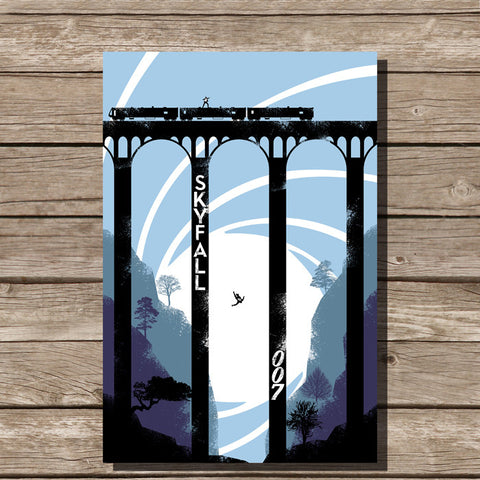 James Bond Skyfall Minimalist Art print