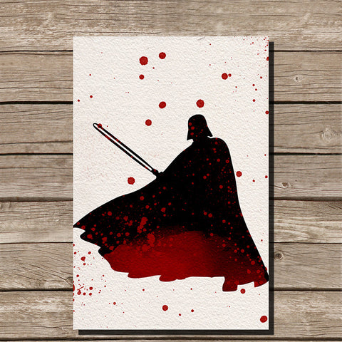 Darth Vader Watercolor Minimalist Print
