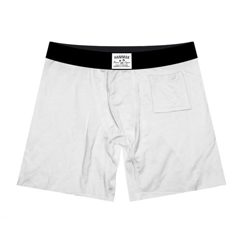 Basic White Premium Fit Boxer Brief With Stash Pocket