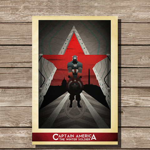Captain America Winter Soldier Minimalist Print
