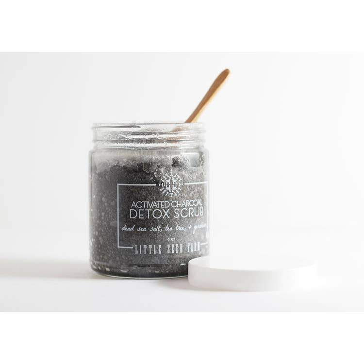 Little Seed Farm - Activated Charcoal Detox Salt Scrub