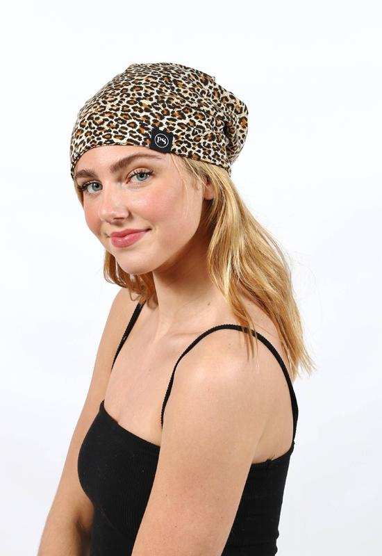 PRETTY SIMPLE PABSM-LEOPARD SMALL LEAOPRDPEEK-A BOO BEANI - PABSM-LEOPARD-PRETTY SIMPLE