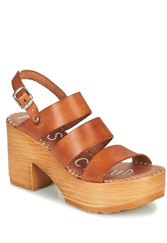 Musse & Cloud Frisca - Cue Leather Triple Band Clog Sandal