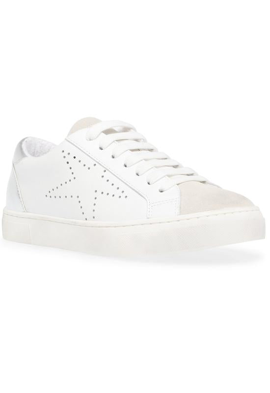 Steve Madden Rezume - White/Silver Lace Sneakers