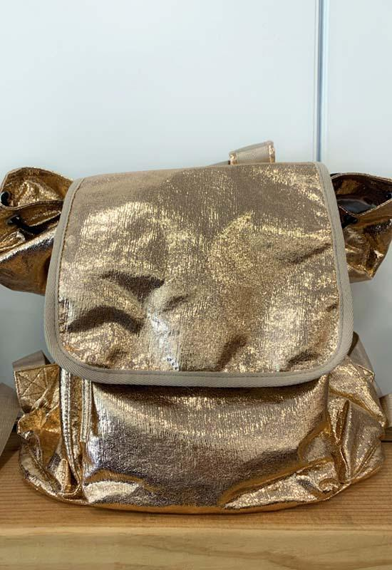 Quilted Koala - Metallic Rose Gold Backpack