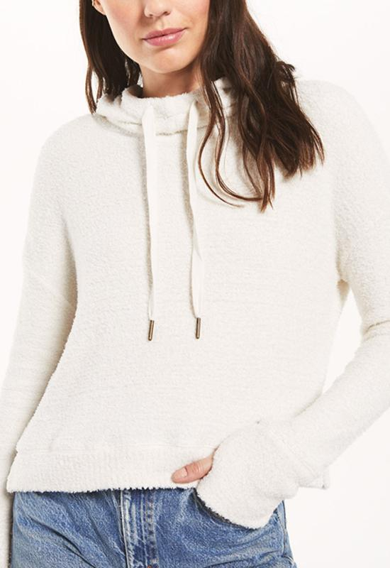 Z Supply - Kacey Feather Hoodie Bone