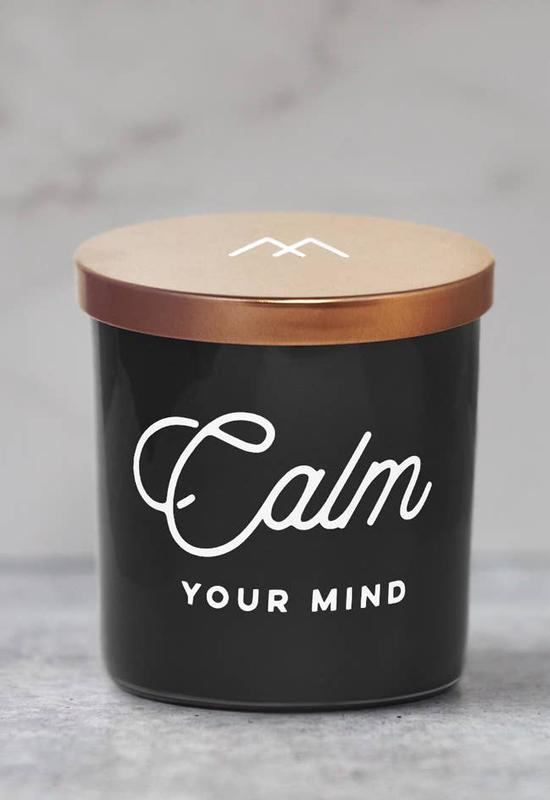 Calm Your Mind Soy Candle by Monterra Candles - Black Copper