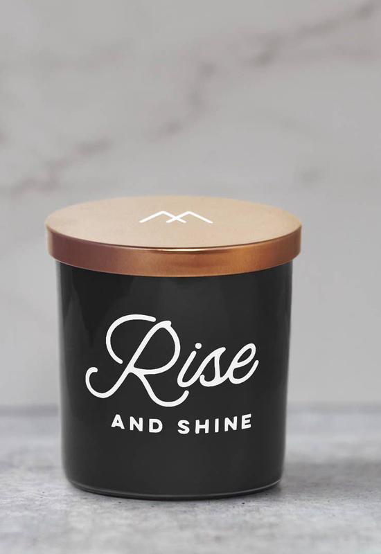 Rise and Shine Soy Candle by Monterra Candles - Black Copper