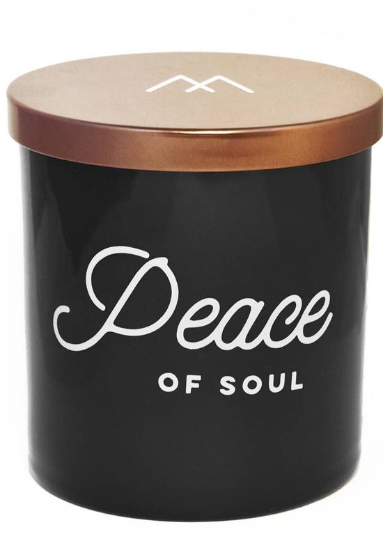 Peace of Soul Soy Candle by Monterra Candles - Black Copper