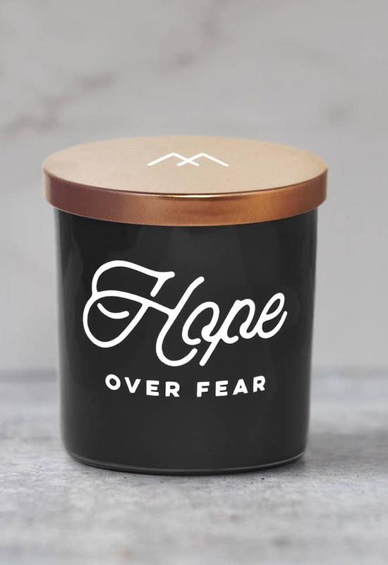 Hope Over Fear Candle by Monterra Candles - Black Copper