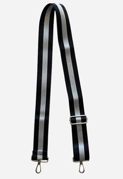 AHDORNED BSSH143BSLVS BLK AND SILVER BAG STRAP - BSSH143BSLVS-AHDORNED