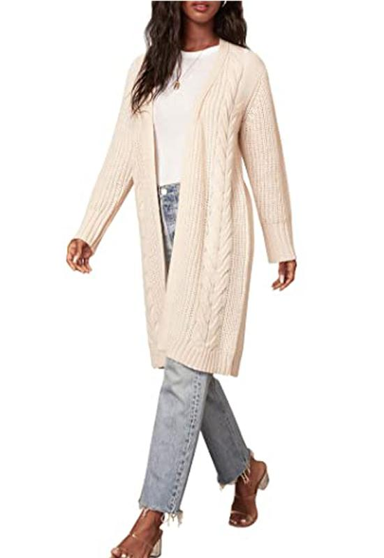 BB Dakota - On The Cable Cardigan Oatmeal