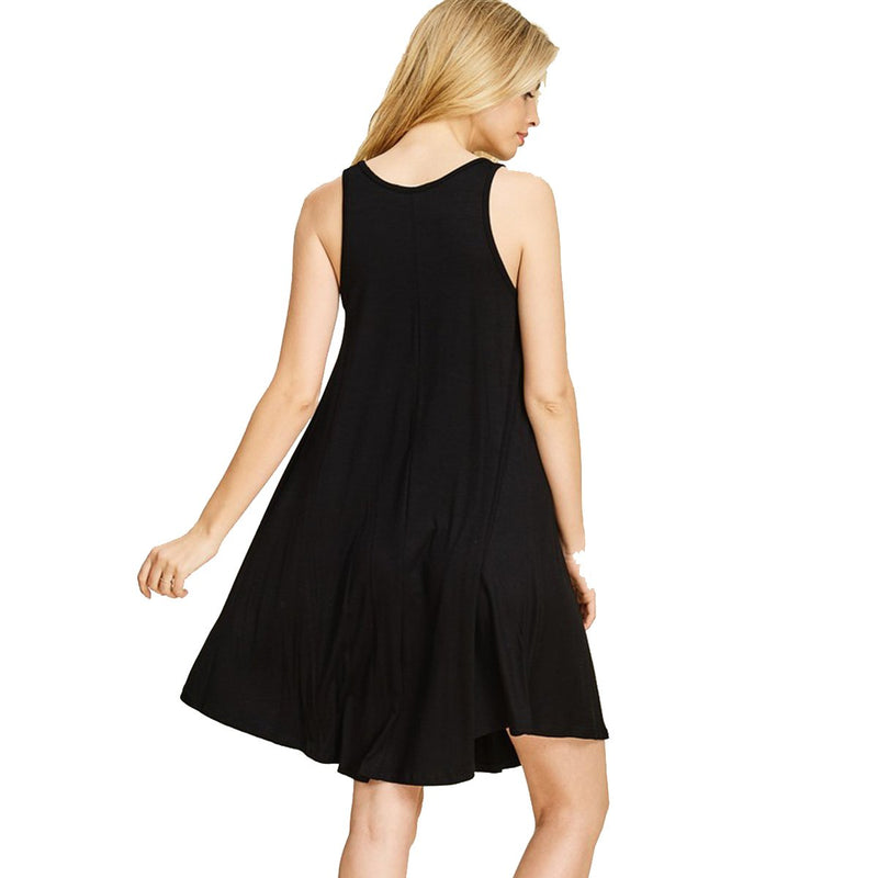 Kixters - Black Jersey Flare Dress