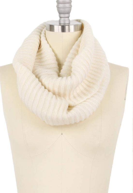 Ivory Cowl Neck Scarf