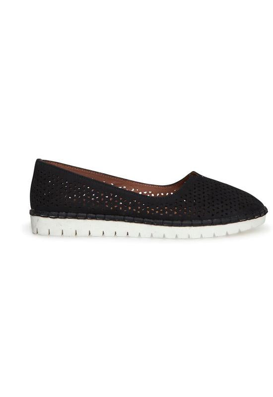 Adam Tucker Neela - Black Leather Athleisure Loafer