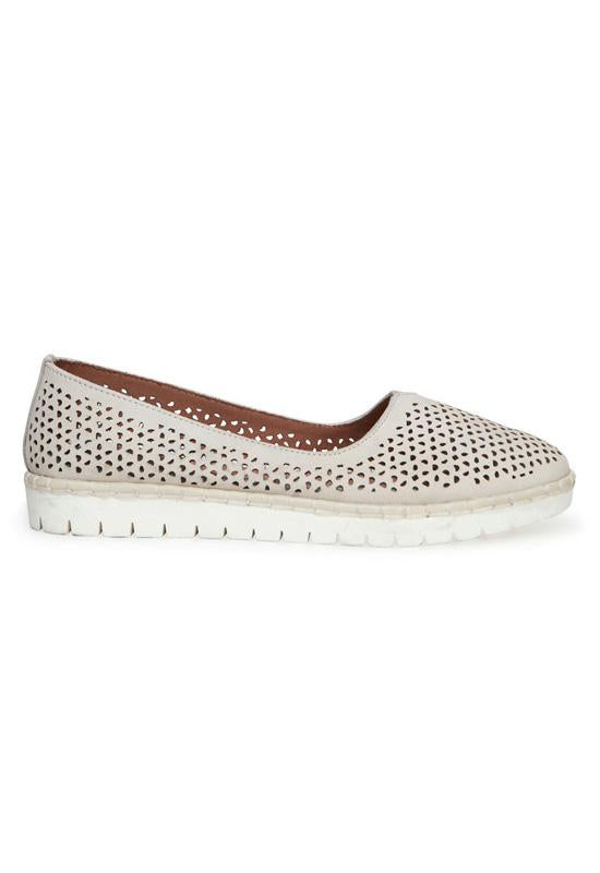 Adam Tucker Neela - White Leather Athleisure Loafer