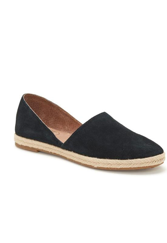 Adam Tucker Sunny - Black Suede Espadrille Loafer
