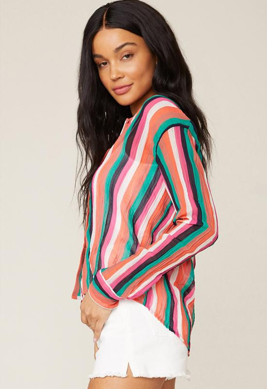 BB Dakota - Hue Are You Multi Stripe Shirt