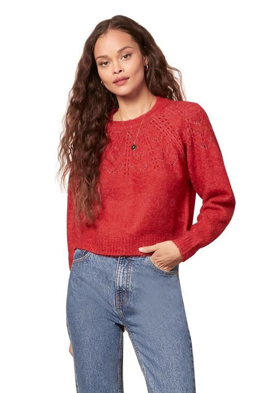 BB Dakota - Turn It Up Sweater Crimson Red