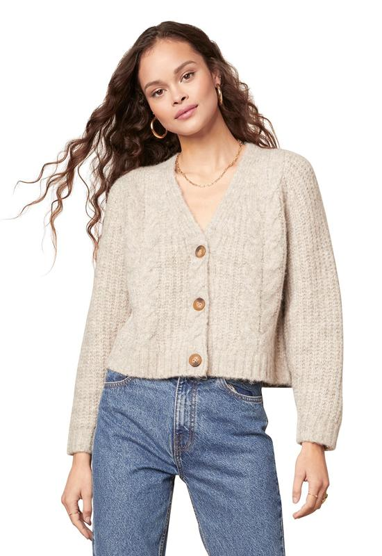 BB Dakota - Quick Study Cardigan Heather Almond