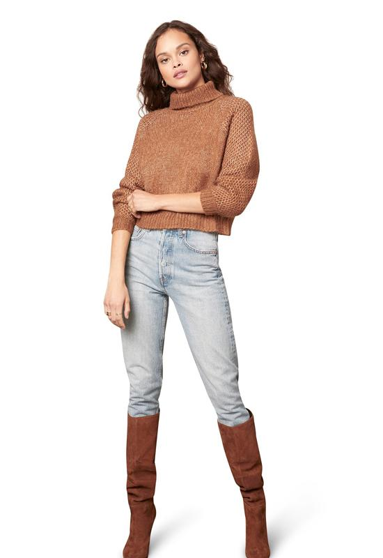 BB Dakota - That Wing You Do Sweater Dark Camel