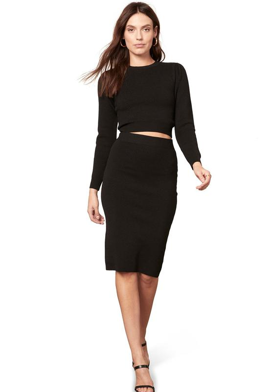 BB Dakota - On Cloud Wine Skirt Black