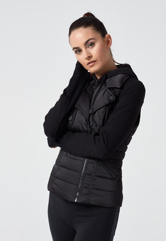 Blanc Noir - Black 3 In 1 Packable Jacket