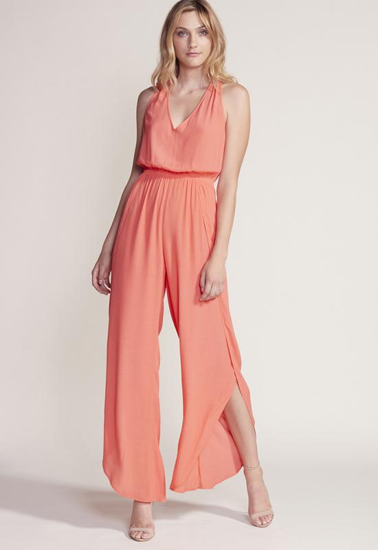 Cupcakes & Cashmere - Camero Hot Coral Jumpsuit