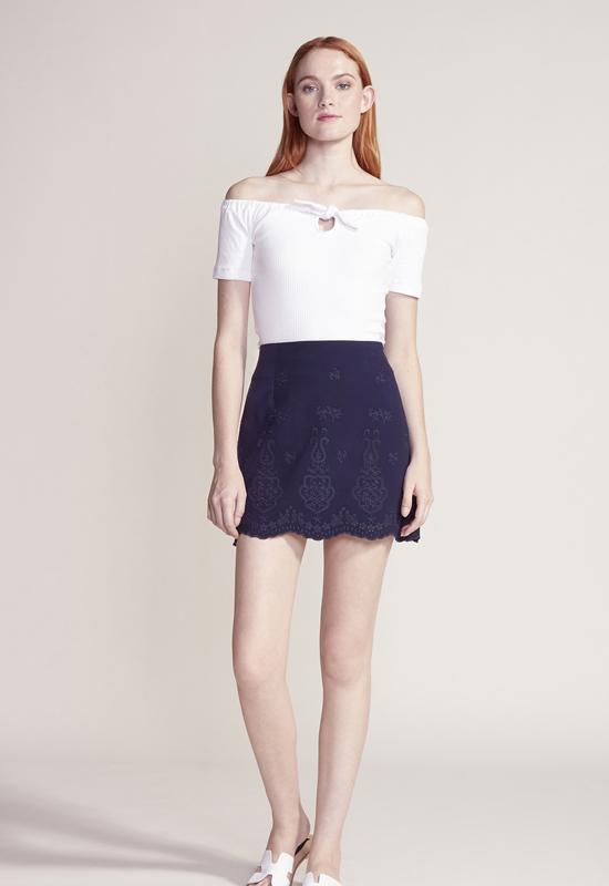 Cupcakes & Cashmere - Ink Tamsen Mini Skirt