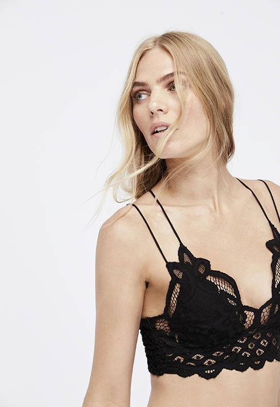 Free People - Black Adella Bralette