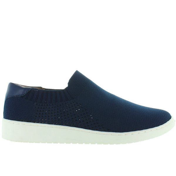 Adam Tucker Romy - Navy Elasticized Nylon Knit Slip-On Sneaker