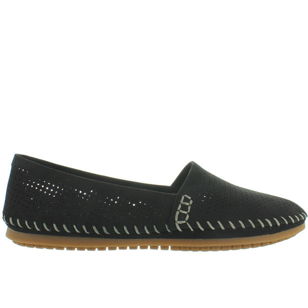 Adam Tucker Seaside - Black Perforated Nubuck Slip-On Moc Driving Loafer