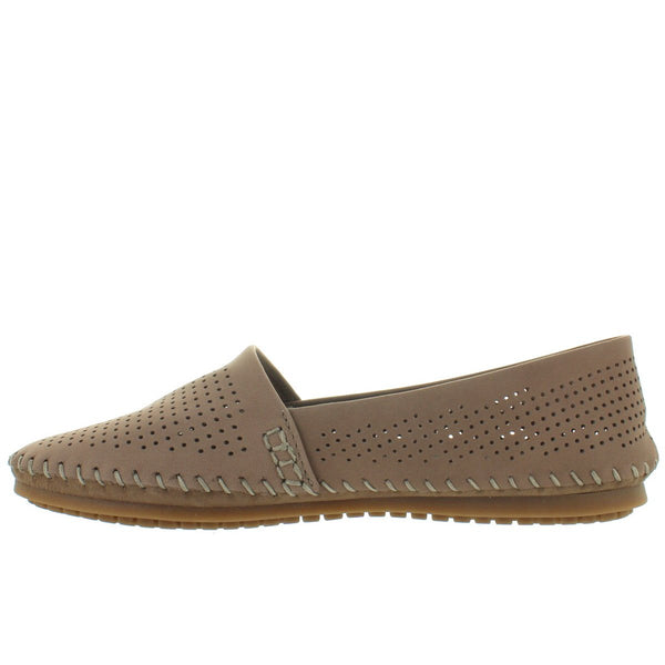 Adam Tucker Seaside - Rosewood Perforated Nubuck Slip-On Moc Driving Loafer