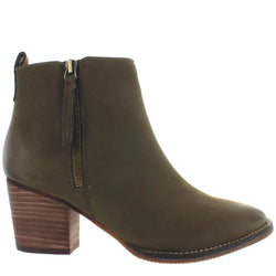 Blondo Canada Vegas - Waterproof Taupe Leather Dual Zip Bootie