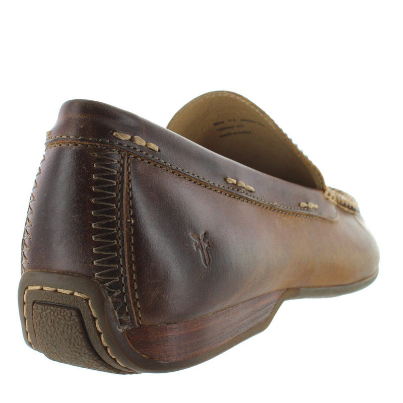 Frye Boot Lewis Venetian - Tan Leather Moc Loafer