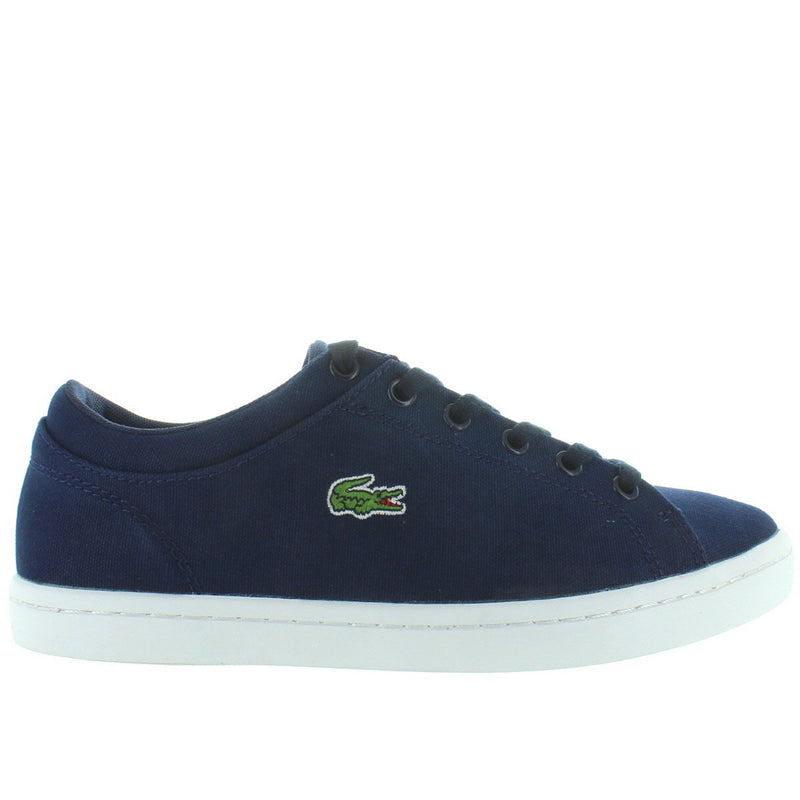 Lacoste Straightset - Navy Blue Canvas Lace Sneaker