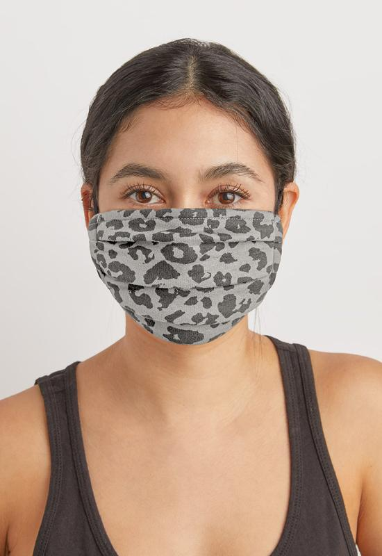Z Supply - Leopard Grey/Black Masks 2 Pack