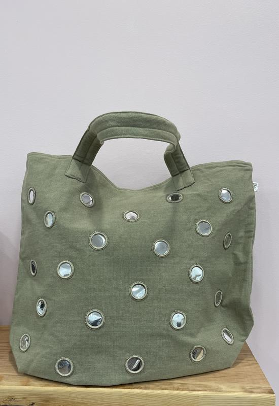 Quilted Koala - Mirror Tote Bag Olive