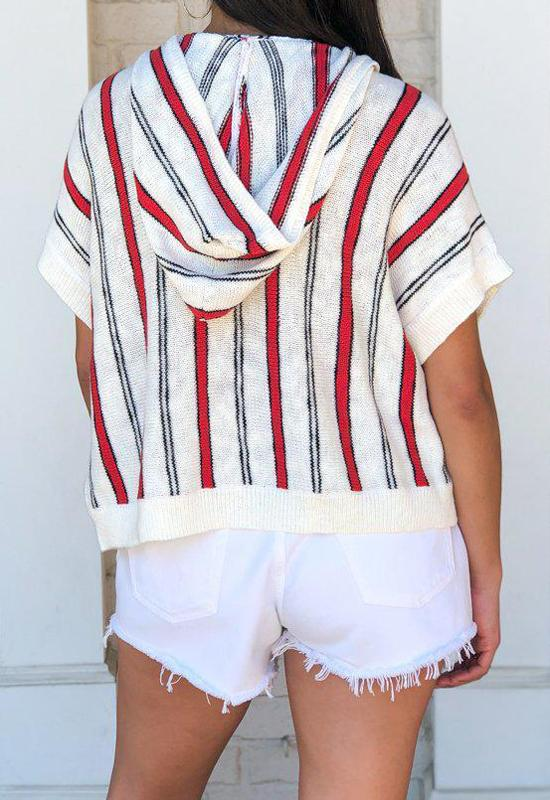 Jack - Ivory Multi Chill To Happen Stripe Top