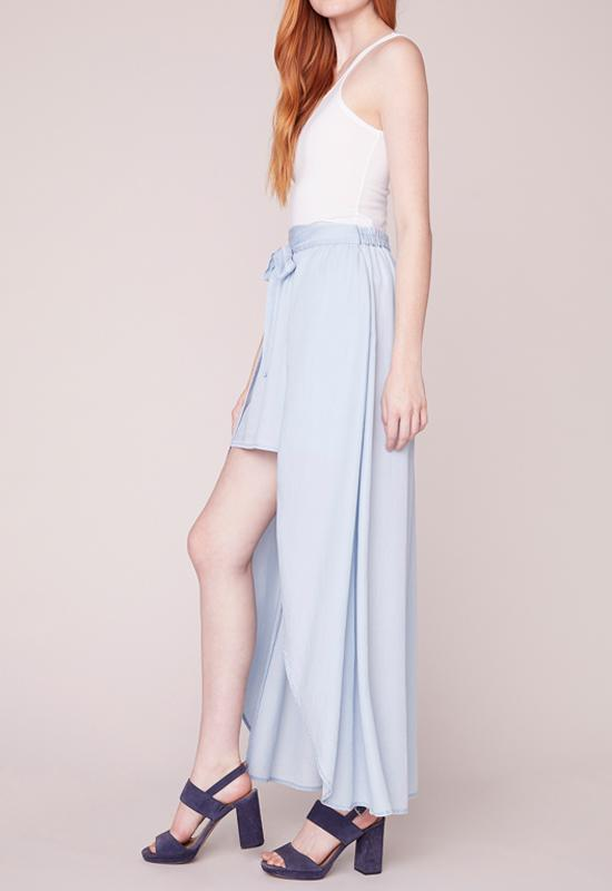 Jack - Sea Legs Washed Out Chambray Light Blue Mini/Maxi Skirt